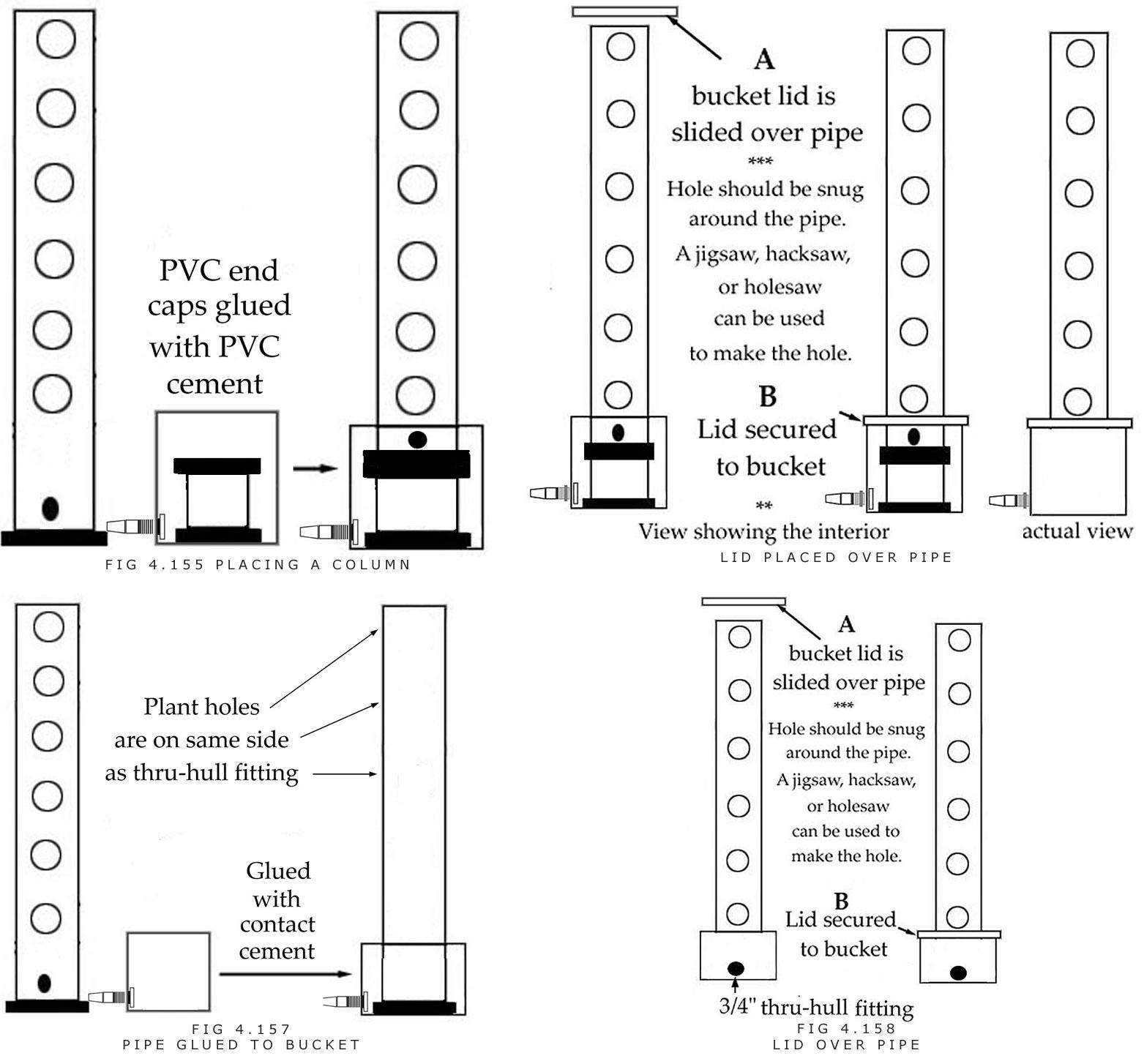 Assembling pvc vertical garden