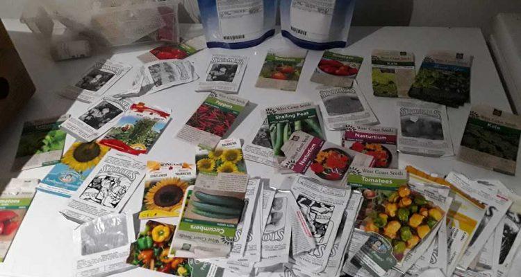 Multiple Vegetable Seed Packages